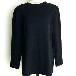St John Essentials Black Satana Pullover Sweater